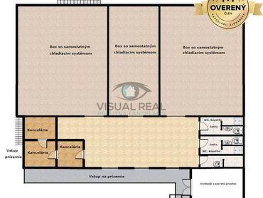 Na predaj polovica budovy, Prízemie - 619,20 m2 + parkovacie plochy