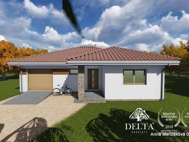 Na predaj  - výstavba -nízkoenergetický 4-izbový bungalov