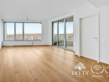 DELTA   SKY PARK - Exkluzívna kancelária s panoramatickým výhľadom na 26. poschodí, 91 m2, Staré Mes