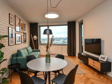 Štýlový, úplne nový 2-izbový byt s výhľadom na hrad v projekte SKY PARK