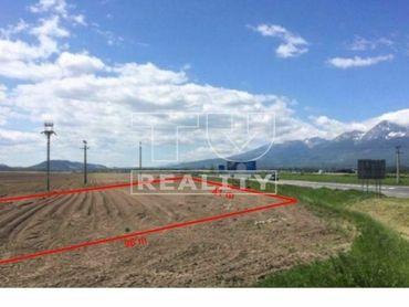 Stavebný pozemok pre občiansku vybavenosť, Poprad, 4000m2.