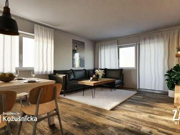 NA PREDAJ   3 izbový byt 79m2 + veľký balkón, 2np. - Rezidencia Kožušnícka, byt B14