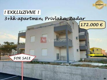 Krásny 3+kk apartmán, 62,75 m2, prízemie, záhrada,Privlaka, Chorvátsko