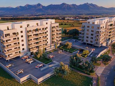 2 izbový byt so štandardným vybavením v cene, 6. nadzemné podlažie (6G)