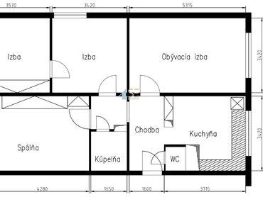 4 izbový byt Poprad Západ