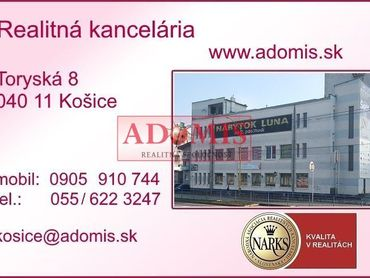 ADOMIS - predaj pozemku na priemyselné/komerčné účely oproti OC Optima, Košice - JUH