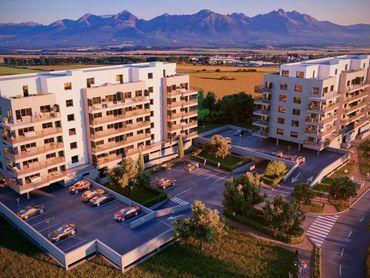 3. PODLAŽIE, 1-izbový byt s balkónom M3I na 3. podlaží, BYTOVÝ DOM MERŤUKY - NOVÉ BYTY V POPRADE NA