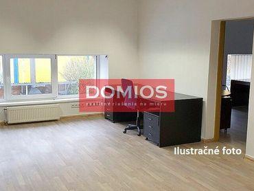 Prenájom samost. kancelárie (20,90 m2, 1. p., 1k, kuchynka, WC, parking)