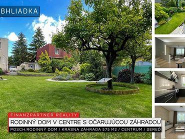Poschodový rodinný dom so záhradou, Centrum, Sereď + 3D