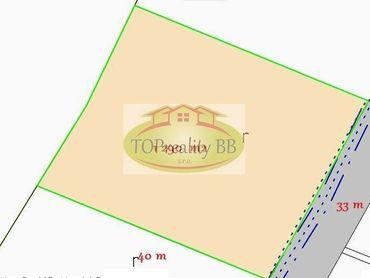 Predaj slnečného rovinatého stavebného pozemku 1 290 m2, so sieťami Banská Bystrica