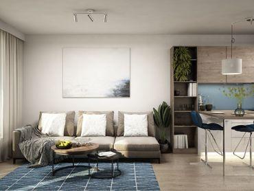 NOVÉ ZLATOVCE  - B1.8 / 1-izbový byt, 47 m2, balkón, 1. poschodie/4., NOVOSTAVBA