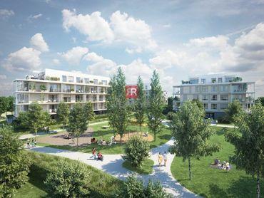 HERRYS - Na predaj 2 izbový byt s terasou a predzáhradkou v projekte Nový Ružinov