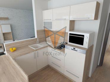 FOX * REZERVOVANÉ * Klimatizovaný 1 izbový byt typu bauring, kompletne zariadený * kompletná rekonšt