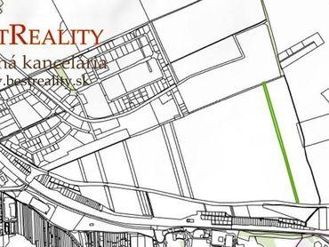 INVESTIČNÝ Pozemok 1521,5 m2 pre budúcu výstavbu rodinných domov  www.bestreality.sk