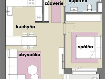 2 izbový byt so šatníkom v krásnej tehlovej novostavbe s podlahovým kúrením