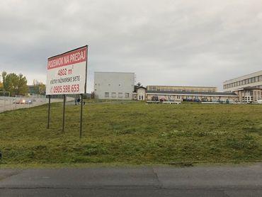 Stavebný pozemok v priemyselnej časti mesta