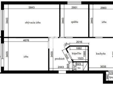 4i byt v tichej lokalite ideálny na rekonštrukciu podľa vlastných predstáv!!