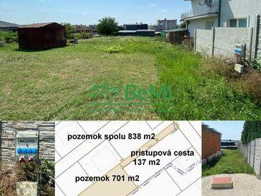 Pozemok so stavebným povolením Nitra - Janíkovce 838 m2 ID 265-14-MIG