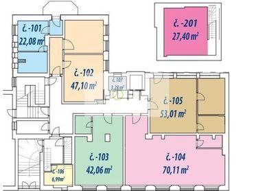 Nebytové priestory Bratislava I. od 38 m2
