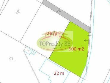 Stavebný pozemok so sieťami o rozlohe  500 m2,  B. Bystrica – širšie centrum - možnosť výstavby RD –