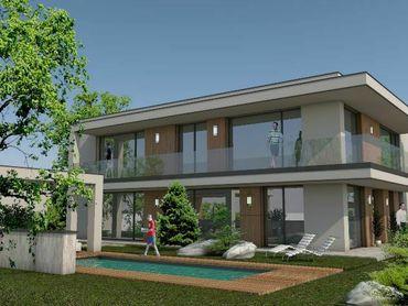 Exkluzívny stavebný pozemok so stavebným povolením na výstavbu luxusnej vily .