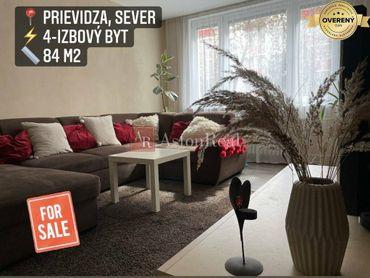 Predaj: 4 izbový byt, 84 m2, Prievidza, Sever