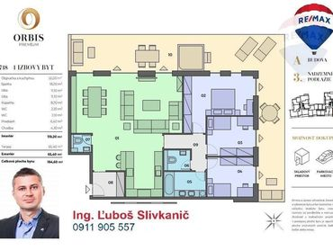 Predaj 4-izbový byt s veľkou terasou a jacuzzi vírivkou v centre mesta Nitra.