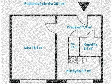 Predaj 1 izbového bytu v Bratislave - Podunajské Biskupice