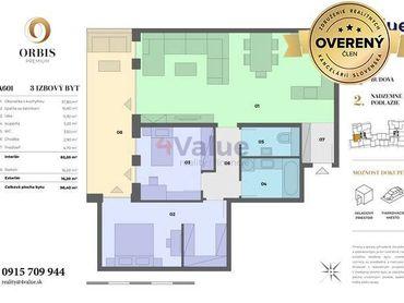 3-izb. byt Orbis Nitra 99,4m2