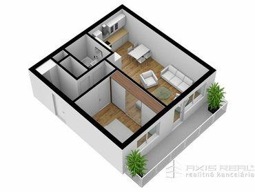 AXIS REAL:: 2-izbový byt (3E) NOVOSTAVBA, Poprad, Suchoňova ulica