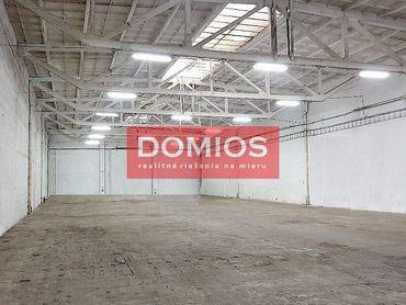 Prenájom sklad. priestorov (1.158,50 m2, nakl. rampa, kancel., WC, parking)