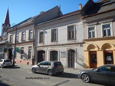 Polyfunkčný objekt – nehnuteľná kultúrna pamiatka, Mäsiarska ulica, Košice – Staré Mesto.