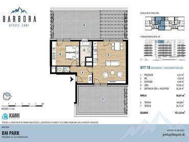 2 izbový byt s veľkými terasami a nekonečnými možnosťami ich využitia