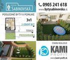 2 izbový južný byt. Prešov Sabinovská, terasa, záhradka na relax D1