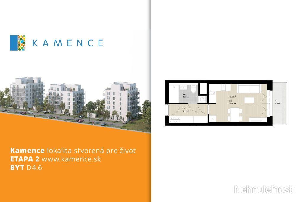 Byt 1+kk s balkónom - NOVOSTAVBA (D4.6)