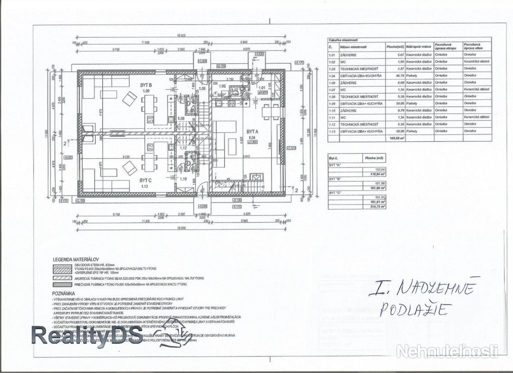 Predaj  3 izb. priestranného mezonetového bytu (103m2) + pozemku + 2 parkovacie miesta, Malinovo