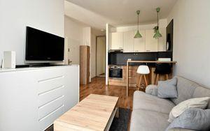 REZERVOVANÉ 1,5 izbový byt v úplnom centre mesta v novostavbe Modrá Guľa