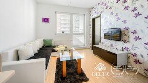 DELTA   2 izbový ZARIADENÝ byt s parkovaním, Nejedlého - Dúbravka, 44 m2