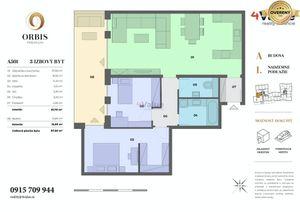 3-izb. byt Orbis Nitra 97,6m2
