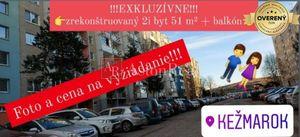 AstonReal: predaj zrekonštruovaný 2i byt 51 m2+balkón - Kežmarok - JUH