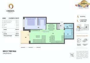 2-izb. byt Orbis Nitra  68m2