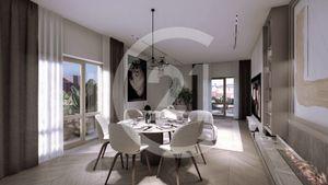 2 izbový byt 52,7 m2 s loggiou v centre mesta, novostavba, výťah, parkovisko