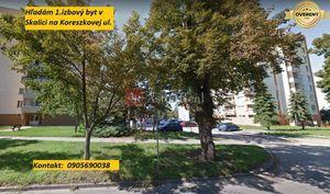 Hľadám pre klienta 1.izbový byt v Skalici na Koreszkovej ul.