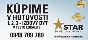 STAR DEVELOPMENT - HĽADÁ - Byty v Dúbravke