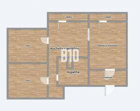 Rezervované - 3 izbový byt- Kompletná rekonštrukcia - 2 minúty od OC Mlyny - nízke mesačné náklady