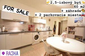 RAJKA 2,5-izbový priestranný byt, 60 m2 šatník, záhrada, parkovanie
