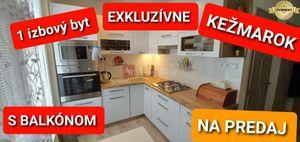REZERVOVANÉ -Predaj - 1-izbový byt Kežmarok, Juh, s balkónom 38 m2