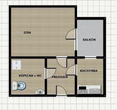 útulný 1-izb., Bajkalská, Ružinov, balkón, 3.p./4, výťah