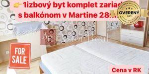 1 izbový byt Martin predaj