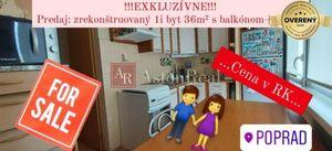1 izbový byt Poprad predaj